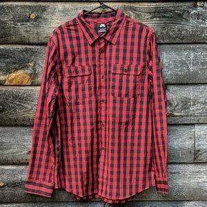 NWOT Nike SB Skateboard Buffalo Check Woven Shirt